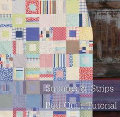 Squares and Strips Quilt Tutorial by Allison @ Cluck Cluck Sew