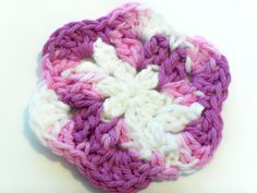 Coaster Set  Lilac and White Multi  Set of 4 by BeyondCrochetToo, $7.00