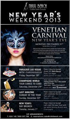 Venetian Carnival at Nikki Beach Cabo San Lucas New Year´s Eve