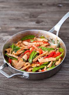 Thai Basil Pork Stir Fry EclecticRecipes.com #recipe