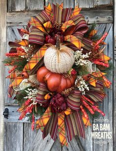 Excellent Cost-Free Fall Wreath tulle Style The fall time of year brings from it comfy robust hues, feathery plant life and many reap fruits and Fall Mesh Wreaths, Autumn Wreaths, Wreath Fall, Tulle Wreath, Pumpkin Wreath, Door Wreaths, Grapevine Wreath, Thanksgiving Wreaths, Thanksgiving Decorations