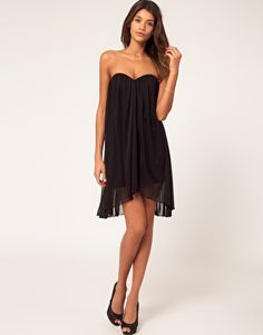 Strapless dress in mesh..I know these make you look pregnant but still cute