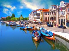 """Aveiro - Portugal - Known as the town of Venice, due to traditional """"Boats Moliceiros"""" identical to those used in the city of Venice."""
