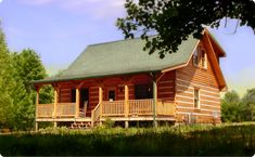 Running Buffalo Log Cabin a Brown County vacation home with Hot Tub & Pond near Nashville Indiana