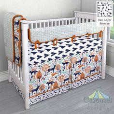 Crib Bedding In Navy Teepee Mint Tribal Herringbone Windsor Whimsical Arrows Solid