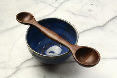 Wooden measuring spoon kitchen utensil double ended Tablespoon Teaspoon measure