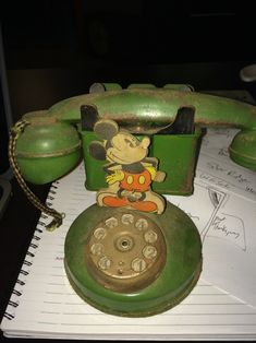 Antique Toys, Vintage Toys, Bank Safe, Mickey Mouse Characters, History Classroom, Vintage Mickey Mouse, Tin Toys, Shades Of Green, Walt Disney
