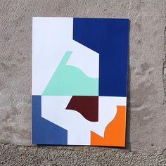 Large Format Collage Investigating positive & negative space. #collage