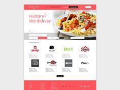 DeliverLot food delivery web design