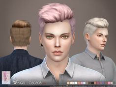 Sims 4 cc // custom content male hairstyle // the sims resource // // wingssims' Sims 3, Los Sims 4 Mods, Sims 4 Tsr, Sims 4 Hair Male, Sims Hair, Pelo Sims, The Sims 4 Cabelos, Sims4 Clothes, Sims 4 Gameplay