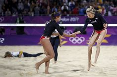 Women's Beach Volleyball - Kerri Walsh  and Misty May..Love watching them!