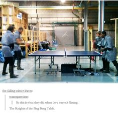 Knights of the Ping Pong Table