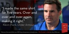 Kevin Plank, @underarmour on #persistence