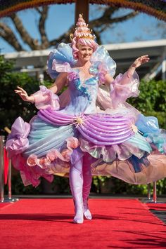 Costumes from the new Disney Festival of Fantasy Parade