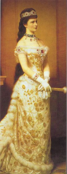 The Empress Elizabeth of Austria with the jewels of Marie Antoinette