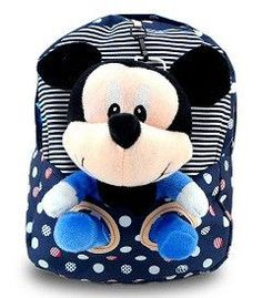 Super Sweet Cute Minnie or Mickey Mouse Soft Plush Cotton Backpack 3 Colors