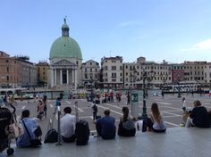 View over the Grand Canal, Venice, from the railway station. What a view on arrival!