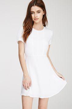 Textured Woven A-Line Dress White A Line Dress, White Maxi, Cheap Dresses, Summer Dresses, Under Dress, Overall Dress, Occasion Dresses, Dresses With Sleeves, Clothes For Women