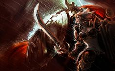 Game League Legends Leona Radiant Dawn Pantheon Armor Blade Valkyrie Video Games #wallpapers #widescreen #backgrounds