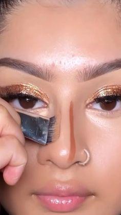 Highlighter Makeup, Contour Makeup, Skin Makeup, Nose Contouring, Contouring And Highlighting, Contour Nose, Simple Makeup, Natural Makeup, Makeup Inspo