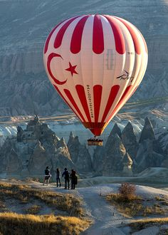 Turkish Balloon at Sunrise, Göreme, Turkey
