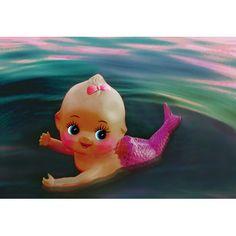 Etsy の mermaid kewpie print 5 x 7 WATER BABY by boopsiedaisy