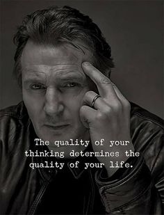 Positive Quotes : The quality of your thinking determine the quality of your life. Positive Quotes : The quality of your thinking determine the quality of your life. Joker Quotes, Wise Quotes, Attitude Quotes, Words Quotes, Quotes Images, Sayings, Deep Quotes, Actor Quotes, Well Said Quotes
