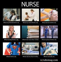 Nurses, is THIS what people think you do?