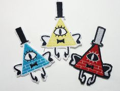 PICK ONE - Bill Cipher Sew On Machine Embroidered Patch Gravity Falls, Dipper…
