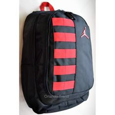 "Nike Air Jordan 14"" Black and Red Laptop and Ipad / Tablet Backpack for $49.50 at OrlandoTrend.com"