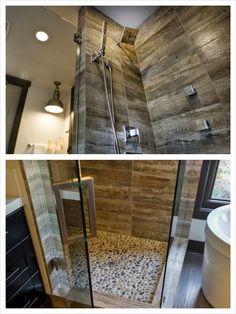 Porcelain Wood Tile in the Shower