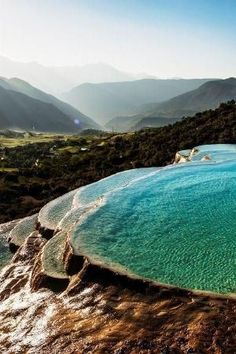 Amazing natural pools. Turkey. by Eva0707