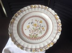 Vintage Spode Dinner Plate  Spode Buttercup  by FlyingFigsVintage