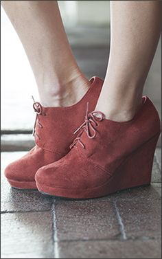 Rebecca Lace up Rust Booties - $29.99 : Mikarose Fashion, Reinventing Modest Fashion i need these