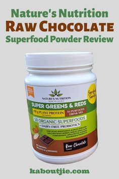 Raw cacao is one of the best superfoods you will ever find, read my Nature's Nutrition Raw Chocolate Superfood Powder Review for more information   #RawChocolate #NaturesNutrition #Superfoods #Smoothies #Review #SmoothieRecipe #Cacao