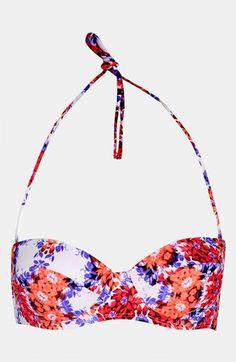 Topshop 'Kaleidoscope Floral' Push-Up Bikini Top - ShopStyle Two-Piece Swimwear Push Up Bikini Tops, Hot Bikini, Bikini Set, Under Your Spell, Cute Bathing Suits, Topshop Outfit, Topshop Clothing, Cute Swimsuits, Summer Of Love