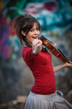 Lindsey Stirling. Definition of music and nerd