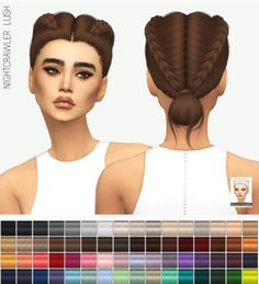 Miss Paraply: Nightcrawler`s Lush hair solids • Sims 4 Downloads