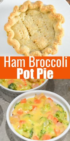Ham Pot Pie recipe filled with cheese, broccoli, and veggies is a great use for leftover ham from Serena Bakes Simply From Scratch. Savory Ham Recipe, Recipe For Canned Ham, Recipes With Cooked Ham, Recipes Using Ham, Leftover Ham Recipes, Leftovers Recipes, Healthy Crockpot Recipes, Bacon Recipes, Cooking Recipes