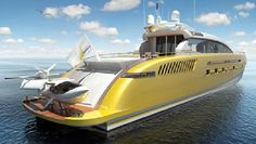 A #yacht of gold