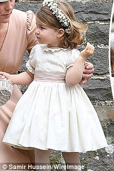 Pepa&Co. bespoke occasion dress. Pippa Middleton wedding: George and Charlotte enjoy day | Daily Mail Online