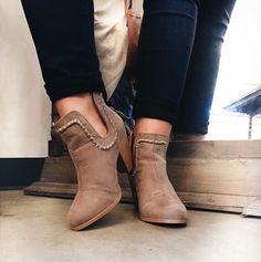 RESTOCK :: stitched cutout booties ($54) #fabrik #jonesboro #booties #fabrikstyle