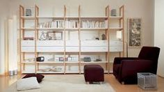 biblioteca madera - Buscar con Google Diy Furniture, Furniture Design, Cool Bookshelves, Muebles Living, Living Spaces, Living Room, Home And Living, Home Art, Shelving