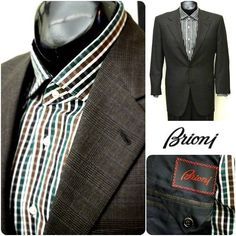 This Brioni suit combines classic prints along side a modern fit, perfect for every gentleman's wardrobe. Featured today, at FLIP!  Brioni suit 42R, Corneliani shirt XL - #nashville #hip2flip #consignment #menswear #brioni #corneliani