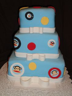 Love the Paul Frank Julius pictures in the polka dots....my next birthday cake???