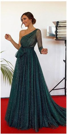 Trendy Dresses, Elegant Dresses, Sexy Dresses, Beautiful Dresses, Evening Dresses, Mini Dresses, Split Prom Dresses, Green Evening Dress, Work Dresses