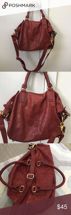 Monserrat de Lucca handbag Soft red handbag in distressed leather (sort of reminds me of the leather used in the givenchy pandora). Gold hardware. Can be worn cross body. Has been worn but have lots of life left. Has some scratches here and there but is part of the charm of this bag monserat de lucca  Bags Crossbody Bags