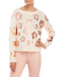 Essentiel Antwerp Iscamorada Metallic Flower Sweater