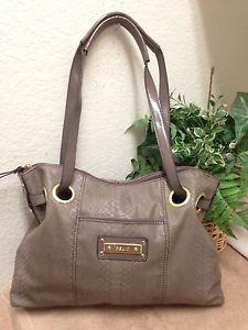 0cd575fb845b Relic Gray Snakskin Embossed Leather Satchel Shoulder Handbag Bag Purse VGC