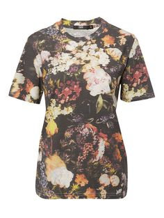 Alex Tee With Woodland Floral Print Floral Tops, Floral Prints, Girls Tees, Markus Lupfer, Woodland, Collection, Women, Fashion, Moda